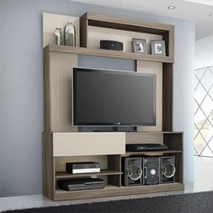 Home theaters cabinet Imagen para Es - hometheaters Front Wall Design, Tv Wall Design, Tv Unit Decor, Tv Wall Decor, Wardrobe Design Bedroom, Tv In Bedroom, Modern Tv Wall Units, Tv Cabinet Design, Tv Unit Furniture