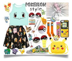 """Pokemon Style"" by jeneric2015 ❤ liked on Polyvore featuring O-Mighty, CellPowerCases and Pokemon"