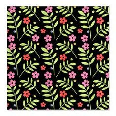 For The Home - Pretty Pink Flowers Shower Curtain