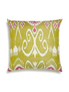 Silk Ikat Pillow by Frog Hill Designs at Gilt