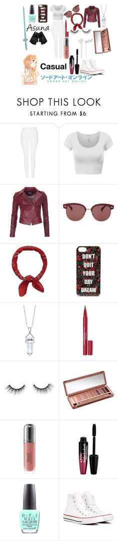 """""""Sword Art Online"""" by nerdyform ❤ liked on Polyvore featuring Topshop, Barbour International, Oliver Peoples, Accessorize, Forever 21, Bridge Jewelry, tarte, Urban Decay, Revlon and Charlotte Russe"""