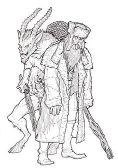 31 Best Krampus Coloring Pages images | Coloring pages ...