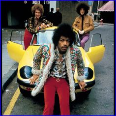 The Jimi #Hendrix Experience with a #Lotus Elan