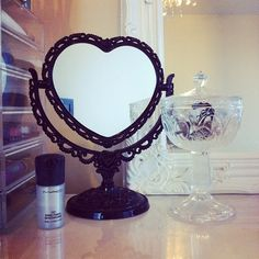 Cute heart shaped mirror <3