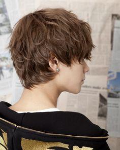 "korean-fashion short hair, me like this! :"">"