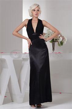 Wonderful Halter Pleats Sleeveless Sheath/ Column Holiday Dress