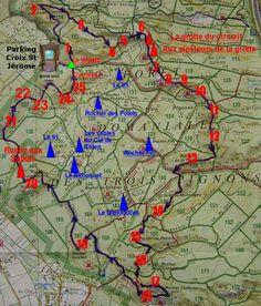 Série de caches des 25 bosses de Fontainebleau