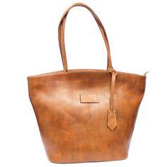 Marina my Love! - Caramel Leather Handbag