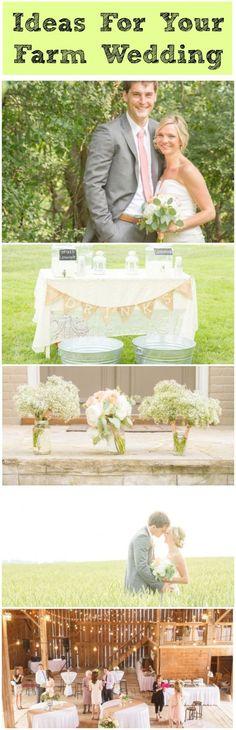 Beautiful ideas for a farm style wedding!
