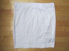 Bebe Wmn's White Calvry Twill Pencil Skirt-F Medium $39.95 NWT #bebe #Pencil