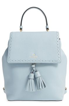 Free shipping and returns on kate spade new york 'james street - teba' leather backpack at Nordstrom.com. Dual tassels and a brogue-trimmed flap enhance the vintage sophistication of a perfectly proportioned backpack in lavish pebbled leather.