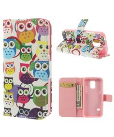 Samsung Galaxy S5 Mini Owls Leather Wallet Case
