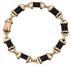 Loving Links: Van Cleef & Arpels Onyx Gold Link Bracelet