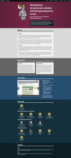 Website layout for PrevMetSyn research project