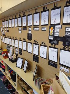 A stunning word wall made by children from Ms. A stunning word wall made by children from Ms. Kindergarten Classroom Setup, Reggio Emilia Classroom, Welcome To Kindergarten, Reggio Inspired Classrooms, Reggio Classroom, Classroom Organisation, New Classroom, Kindergarten Literacy, Classroom Displays Eyfs