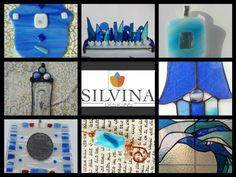 silvina glass desings   All in blue