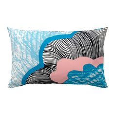 Affordable IKEA finds for easy home decorating ideas at @Stylecaster | Doftranka Cushion Cover in White Multicolor, $4