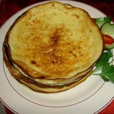 Blini :) A traditional Russian food. Fill with sour cream and jam, cabbage and hamburger meat... whatever you please. Num!
