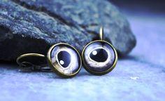 Wild animal eyes earrings vintage earrings by Bernsteinufer