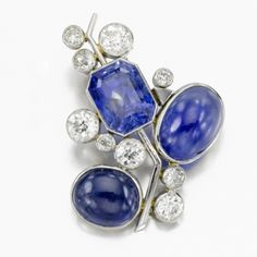 Sapphire and Diamond Brooch, by Suzanne Belperron