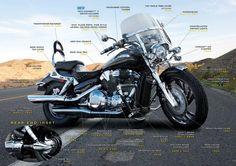 Kuryakyn Honda VTX 1300 and 1800 Bike Map