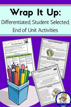 This is a great way for students to review what they've learned after a unit of study.  Students are given over 25 different project options that cost various amounts of money based on their difficulty to complete. For example, creating a word search costs $5, while making up an outdoor game costs $25. Students have to create enough projects to total $50.  This packet includes:  *Suggestions for use *Student friendly directions *Examples *Rubrics *Sharing Options