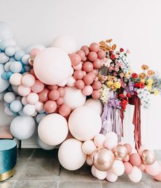 Get inspired by this muted pastel bridal shower by WA event and party planners Balloon Co. Balloon Installation, Balloon Backdrop, Balloon Centerpieces, Balloon Garland, Balloon Decorations, Baby Shower Decorations, Balloon Arrangements, Decoration Party, Balloon Wall