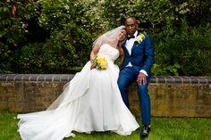 The bride & groom. Traditional wedding photography at Q Vardis Uxbridge, London.
