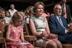 Queen Mathilde and Eleonore at Queen Elisabeth Piano Competition 2016