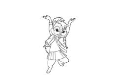 free chipmunks and chipettes printable coloring pages for kids