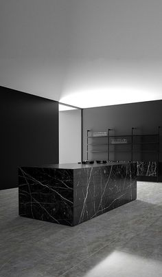Monolith Kitchen made in Nero Marquina marble by Piqu