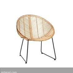 """Für alle Fans dänischen Designs: Rattanstuhl """"Mette"""" von Hübsch Inetrior. Der formschöne Stuhl aus Rattan verleiht jedem Ambiente einen…"""