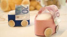 Geldgeschenk Geburt kinderwagen