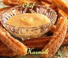 Churros con salsa de dulce de leche de coco