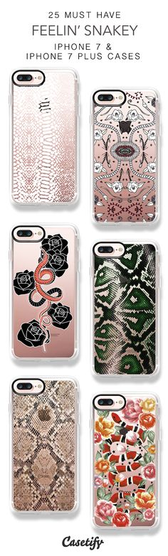 25 Must Have Feelin Snakey Protective iPhone 7 Cases and iPhone 7 Plus Cases. More Snake iPhone case here > https://www.casetify.com/collections/top_100_designs#/?vc=ROyJFFvReD