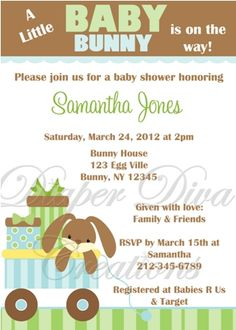 Baby Shower: Bunny Baby Shower Invitations To Inspire And To Make The Beautiful…