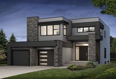Navelli - New Single Family Home in Greater Edmonton - Family Home . - Navelli – New Single Family Home in Greater Edmonton – house - Modern Small House Design, Modern Exterior House Designs, Modern House Facades, House Front Design, Modern Architecture House, Modern House Plans, Exterior Design, Residential Architecture, Small Modern Houses