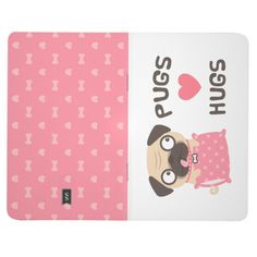 Cute Pugs Love Hugs Notebook Journal For Dog Lover Journal @zazzle #dogs #pug #dog #pugs #pet #pets #cute #hearts #red #notebook #journal #gift #idea #stationery #paper #student #college #personal #diary #buy #shop #sale #shopping #cool #sweet #look #blog #blogging #marketing