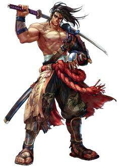 Concept art of Mitsurugi from Soul Calibur IV Fantasy Characters, Samurai, Character Design, Ninja Art, Character Inspiration, Fantasy Warrior, Fantasy Character Design, Character Design Male, Soul Calibur Characters