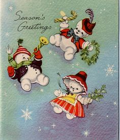 Vintage Xmas Snow Family | Flickr - Photo Sharing!