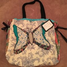 "Lovely Tote bag Super cute tote bag! 16"" length, 12"" high, 6.5"" deep, 10"" handle drop. Bags Totes"
