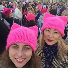 WEBSTA @ loopymango - We are at #womensmarchsanjose - this is a historic event and we are so happy to be here in solidarity with #womensmarchonwashington to march for #womensrights And we are so proud of the girls who started the @p_ssyhatproject - they made it go viral and we are seeing so many hats everywhere we go all over the country and even the world #womensrightsarehumanrights #pussyhatproject #pussyhat #pussyhats #loopymango #iloveloopymango #madeformaking #womensmarch
