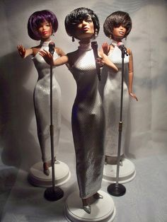 Diana Ross and the Supremes Barbie Dolls. Vintage Barbie, Vintage Dolls, Janet Jackson, Michael Jackson, Celebrity Barbie Dolls, Diva Dolls, African American Dolls, Beautiful Barbie Dolls, Black Barbie