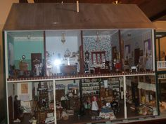 One side of the model of the Brush Store in the museum.