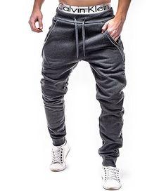 BetterStylz LukaBZ Hombre Pantalones Deportivos Joggers Pantalón de chándal con 4 Cremalleras Sweatpant div colores (S-XXL) (Medium, Gris Oscuro/Negro): Amazon.es: Ropa y accesorios