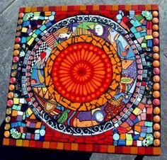 Azulejo mosaico metropolitana Funky Art Deco Fiesta vajilla