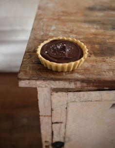 Salted Chocolate Passionfruit Tarts by Burnt Butter Bakery