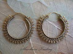Tribal Brass Earrings Hoop Earrings Indian by ShankaraTrading