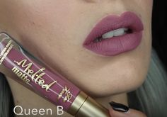 Too Faced Melted Matte Liquid Lipstick in 'Queen B' - mirrorsandhaze youtube