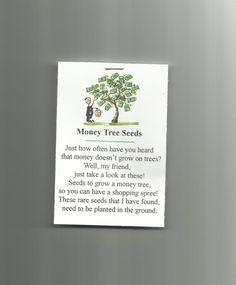 New Homemade Money Tree Seeds Novelty Gag Gift Prank Joke Party Favor Gardening #Homemade #AllOccasionEveryday